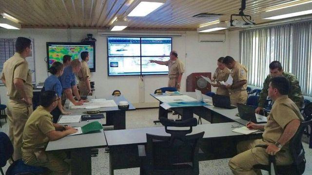 Centro de operações da missão de busca