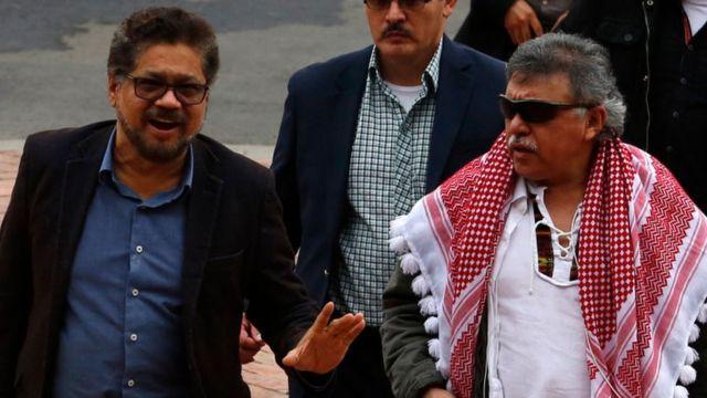 Iván Márquez and Jesús Santrich