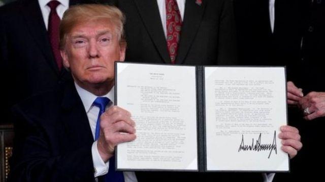 特朗普签署对华加征关税令