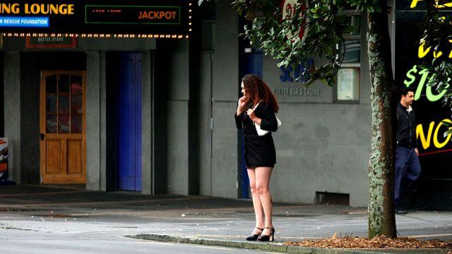 Una prostituta en la calle Karangahape