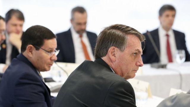 Reunião ministerial no Palácio do Planalto em 22 de abril