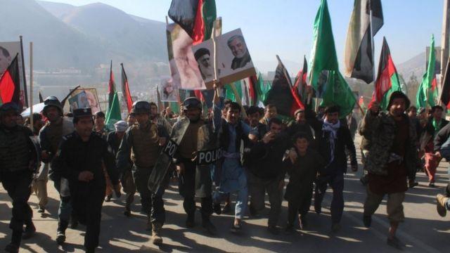 Протесты оппозиции в Афганистане