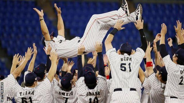 Japan win Olympic baseball gold at Tokyo 2020.