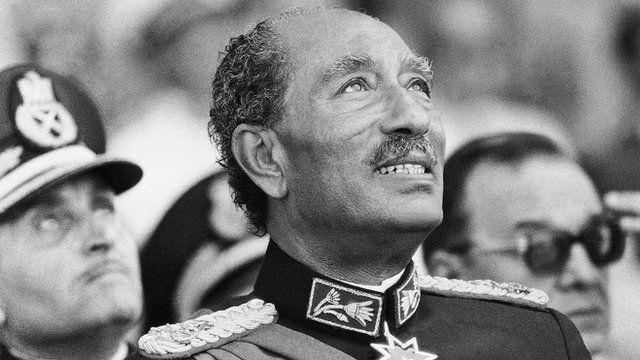 President Sadat at the military parade