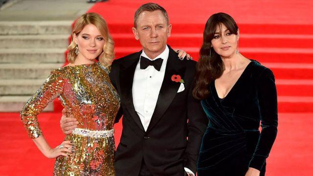 Spectre stars Lea Seydoux, Daniel Craig and Monica Bellucci