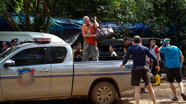 Mr Unsworth at the scene of the rescue
