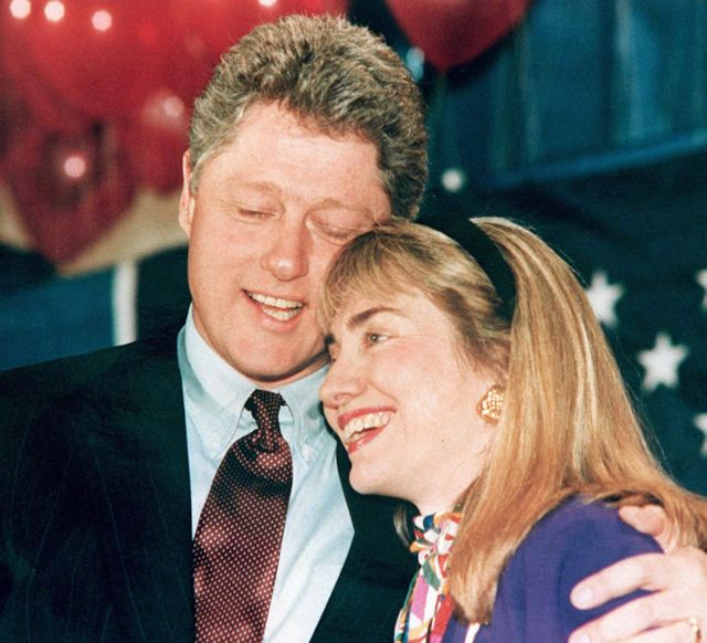 The Clintons in 1992