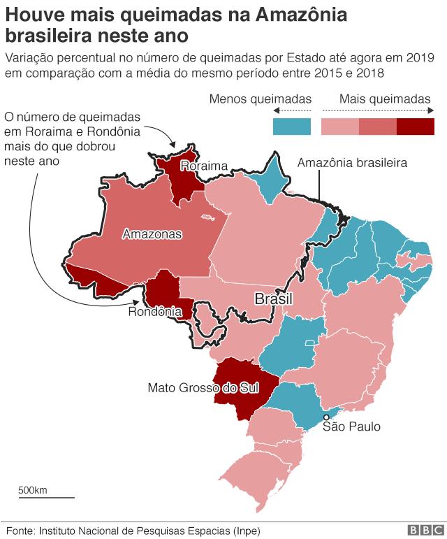 Gráfico sobre queimadas na Amazônia
