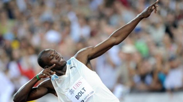 Usain Bolt remporte le 100 m à Zurich en 2008
