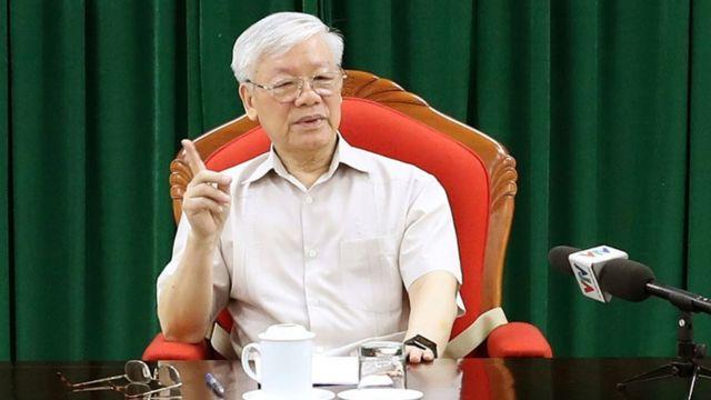 Hình ông Nguyễn Phú Trọng ngày 14/5, ảnh của Thông tấn xã Việt Nam công bố