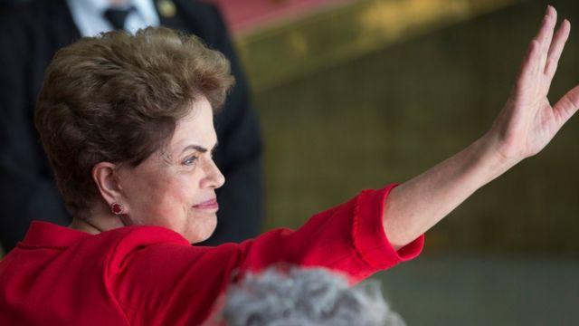 Rousseff da su mensaje final.