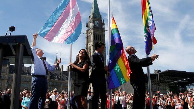 นายกรัฐมนตรีจัสติน ทรูโด ของแคนาดา เป็นผู้สนับสนุนสิทธิ์ของกลุ่มคนหลากหลายทางเพศ