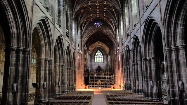 Gargoyle S Eye View Of Chester Cathedral Revealed With