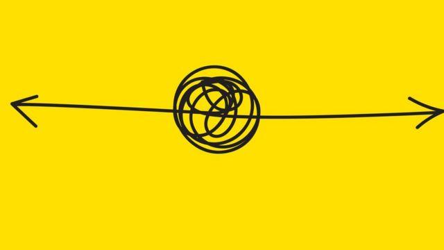 ilustração com setas para a direita e a esquerda