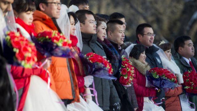 2015年在黑龍江舉行的集體婚禮