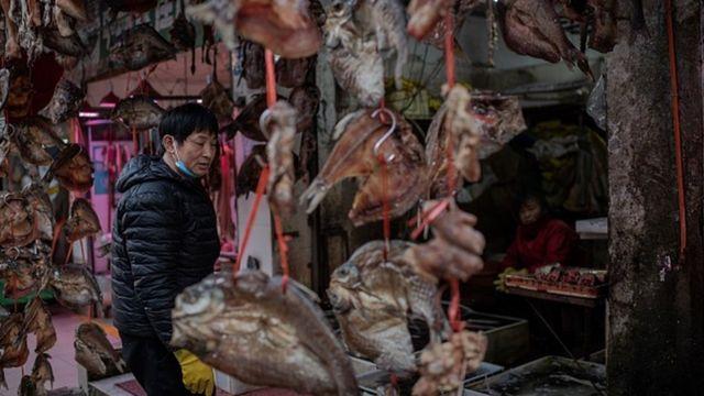 Рынок в Ухане
