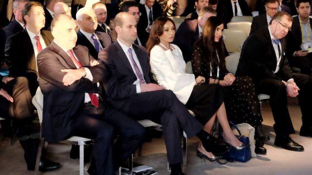 Elmar Məmmədyarov, Mehriban Əliyeva, Leyla Əliyeva