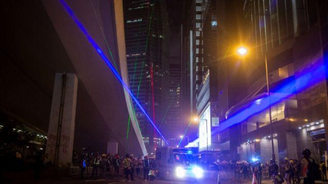香港抗爭現場