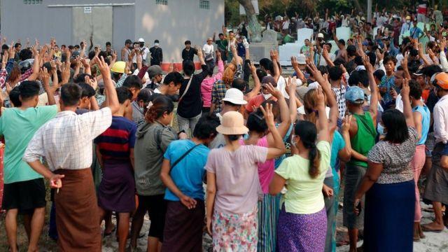 Похороны протестующего, убитого в субботу в Мьянме