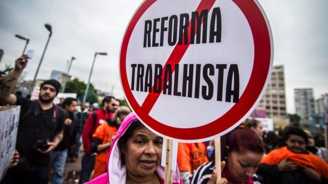 Protesto contra a reforma trabalhista em São Paulo (abril de 2017)