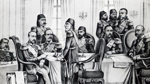 مراسم توقيع معاهدة سان ستيفانو