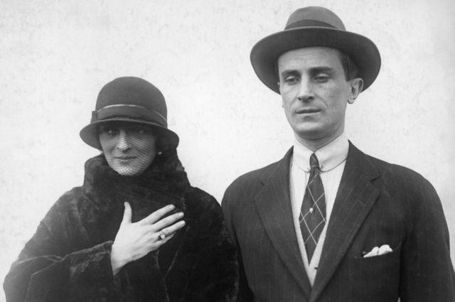 El príncipe Felix Yusupov y su esposa la princesa Irina Alexandrovna (circa 1925).