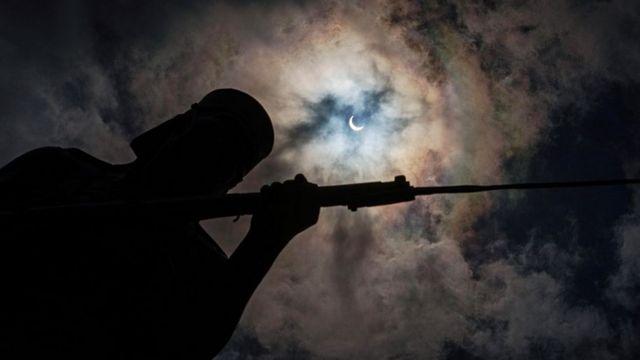 Кольцевое солнечное затмение в Африке