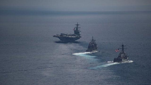 USS Carl Vinson ikiwa bahari ya Hindi