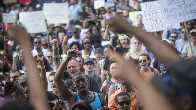 Manifestación del Movimiento La Vida de los Negros Sí Importa