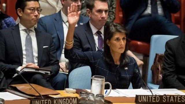 سفيرة واشنطن لدى الأمم المتحدة