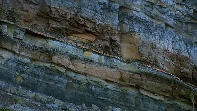 Rocas con capas