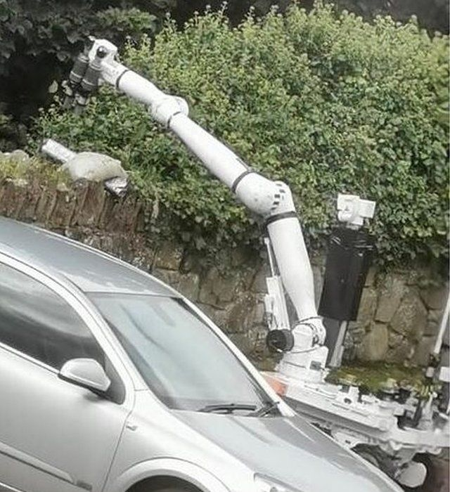 The mortar bomb discovered in Strabane
