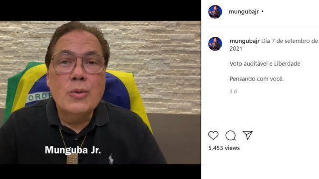 Print do vídeo de Munguba Júnior