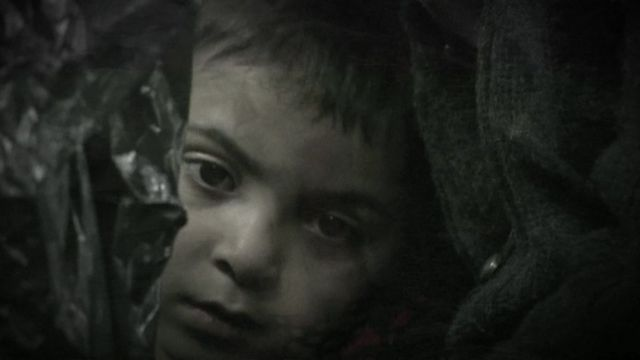 sad-looking young boy's face