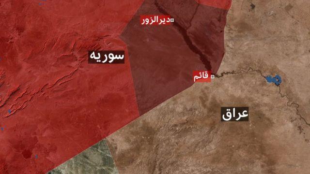 نقشه سوریه و عراق