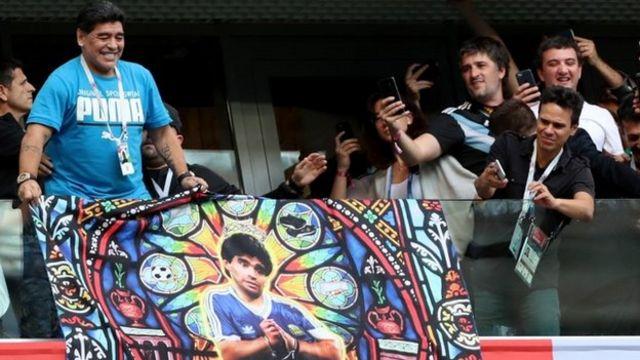 Diego Maradona nchini Russia