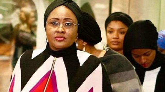 Aisha Buhari da wasu daga cikin 'ya'yanta