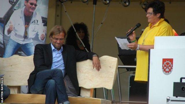 Klopp at a special celebration ceremony in Glatten