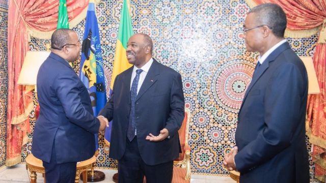 Ali Bongo de retour au Gabon en audience.