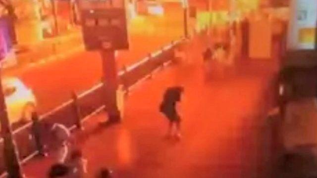 CCTV footage of the blast