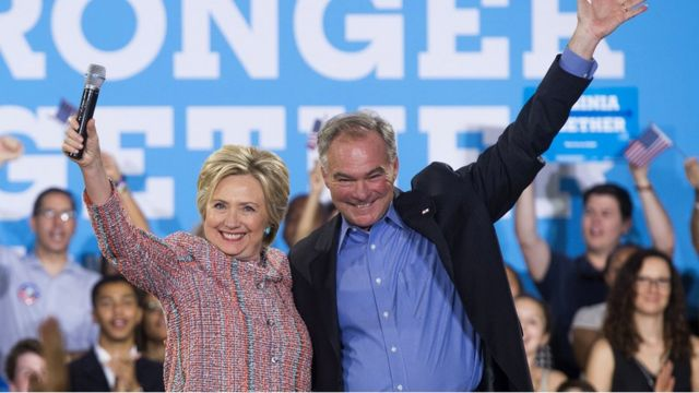 Clinton running mate Tim Kaine's son held in 'riot' at rally