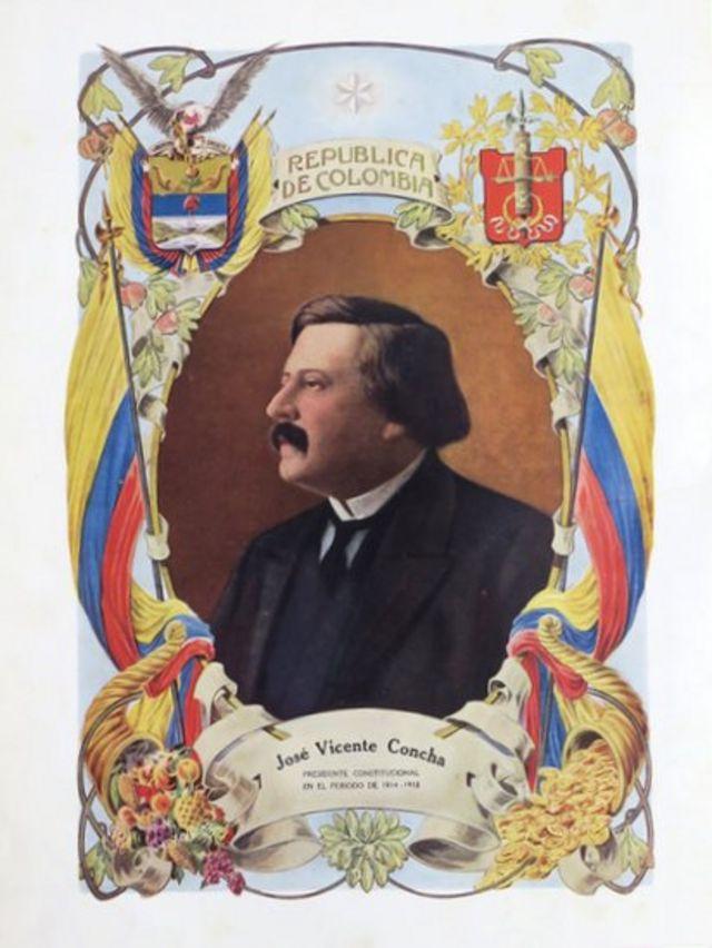 Retrato del presidente José Vicente Concha.