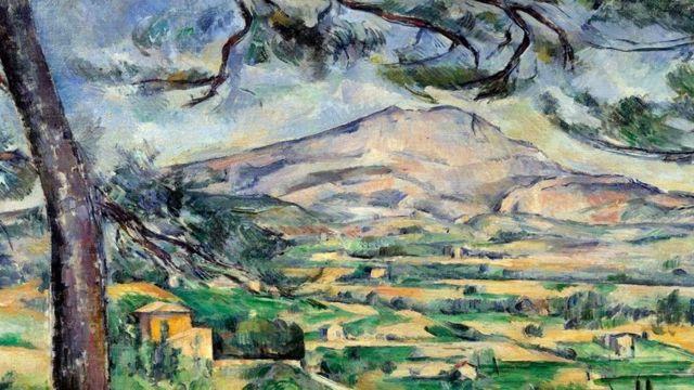Pintura de Cézanne