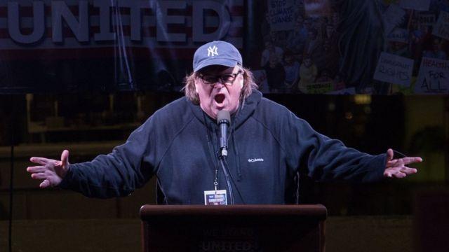 Michael Moore en Nueva york
