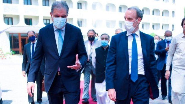 Dominic Raab Pakistan Dışişleri Bakanı Şah Mahmud Kureyşi ile ve diğer üst düzey yetkililerle görüştü