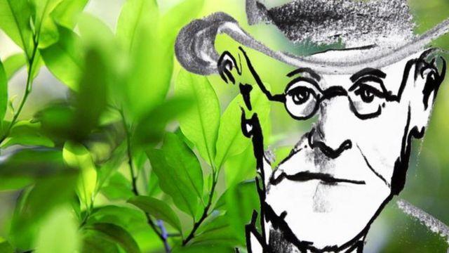 Arte com o rosto de Freud