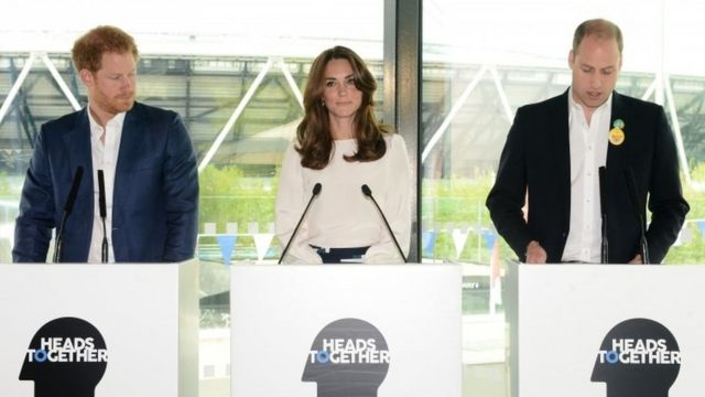 (l-r) Prince Harry, Duchess of Cambridge and Duke of Cambridge