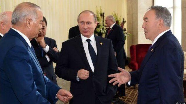 Marhum Islom Karimov, Rossiya Prezidenti Vladimir Putin va Qozog'iston Prezidenti Nursulton Nazarboyev