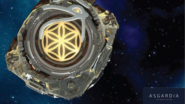 Ilustración de la estación espacial Asgardia