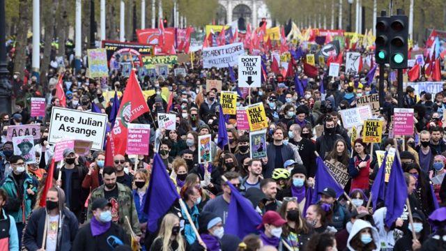 Демонстрации первого мая в Лондоне